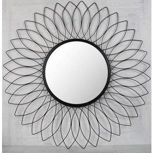 Flower spegel 90 cm - Svart