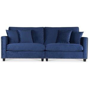 Avenue 4-sits soffa - Blå Sammet