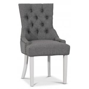 Decotique stol med antika nitar (rygghandtag) - Grå/Vit