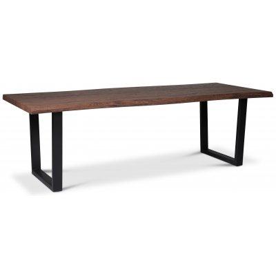 Bretagne matbord 240 cm - Brun/svart