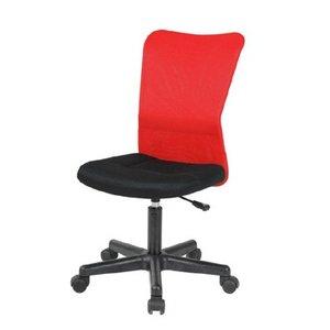 Per skrivbordsstol utan armstöd - Svart / röd