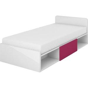 Bennett säng med förvaring - Fuchsia/vit