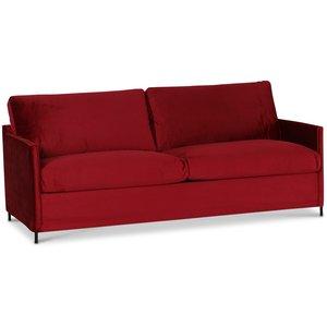 Petit 3-sits soffa loose cover - Röd (sammet) & 7390.00