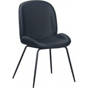 Leo stol - Svart PU/svart