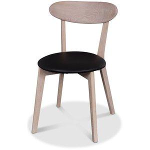 Tundra stol - Whitewash ek / Svart PU