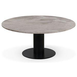 Next 105 runt soffbord - Svart / marmor (Beige)