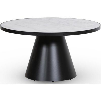 Zero soffbord runt Ø85 cm - Svart / Vit marmor