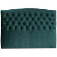 Love sänggavel med knappar (Grönt sammet) - Valfri bredd