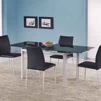 Genevieve matbord 120-180 cm - Vit/svart