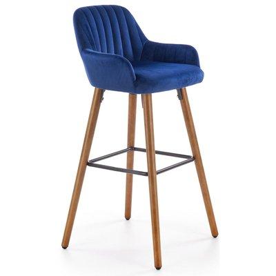 Wilfrid barstol - Blå (Sammet)