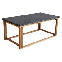 Accent soffbord 110 - Svart granit / Oljad ek