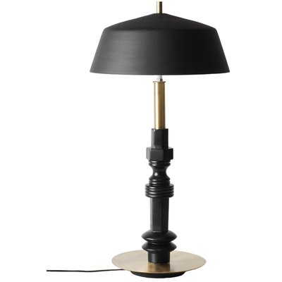Kavat bordslampa DM010120 - Svart / Mässing
