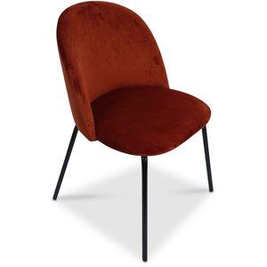 Giovani velvet stol - Roströd/Svart