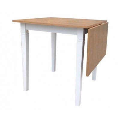 Peter matbord med klaff - Ek/Vit