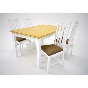 Ramnäs matgrupp - Bord inklusive 4 st Nebraska stolar - Vit/ek