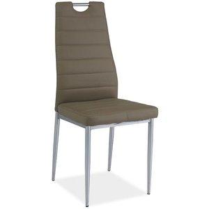 Priscilla stol - Mörkbeige/krom