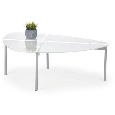 Avah soffbord - Vit/krom