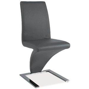 Skyler stol - Grå/krom