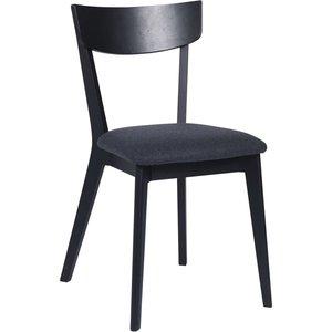 Allie stol - Svartbetsad ek/mörkgrå