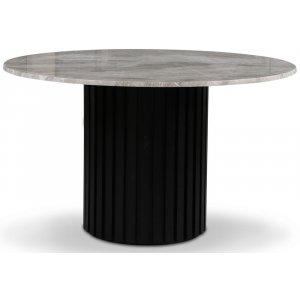 Sumo matbord Ø130cm - Svartbets / Silver marmor
