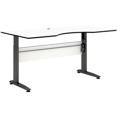Wilhelmina skrivbord - Svart/vit