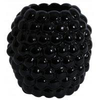 Vas Big Bouble H25 cm - Svart
