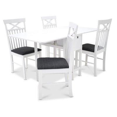 Sofiero matgrupp - Bord inklusive 4 st Sofiero stolar - Vit