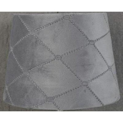 Velvet Diamond lampskärm 20 cm - Grå