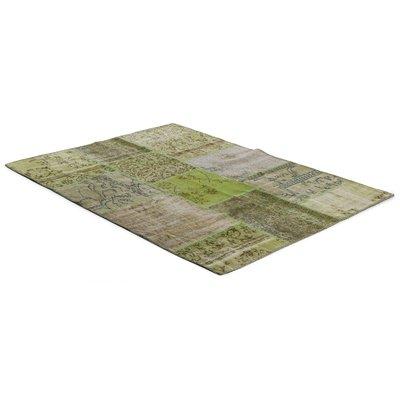 Äkta Patchwork matta Persia - Grön