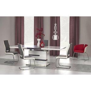 Cathrina matbord 160-220 cm - Vit/grå
