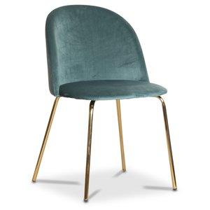 Giovani velvet stol - Grön/Mässing