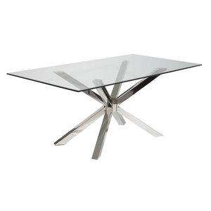 Madrid matbord - Glas/krom