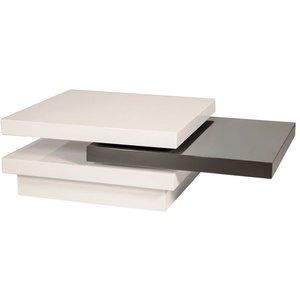 Soffbord Lynden - Vit/grå