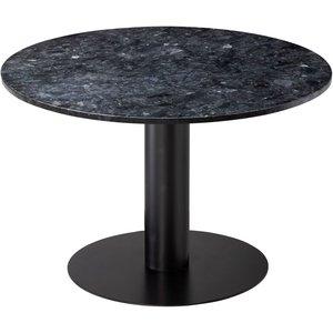 Next 105 runt matbord - Svart / Granit