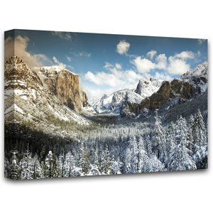 Canvastavla Yosemite valley - 100x75 cm