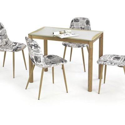 Nola matbord 100 cm - Ek/grå