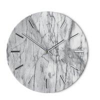 Väggklocka Timeless - Vit/krom