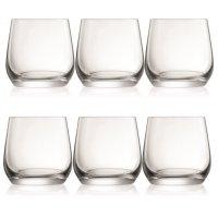 Sontell wiskeyglas i kristall - 6 st