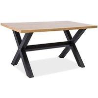 Esperanza matbord 150 cm - Ek/svart