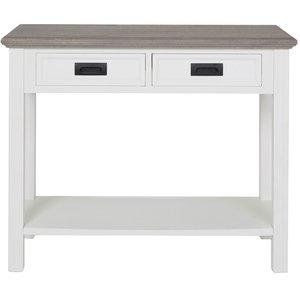 Malou avlastningsbord - Vit/Brungrå