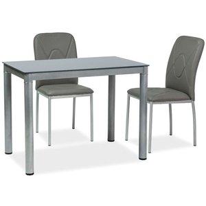 Lacey matbord 100 cm - Grå