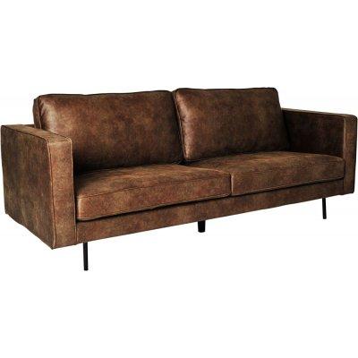 Balbus 3-sits soffa - Mörkbrun