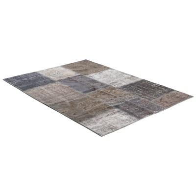 Patchwork matta Persia (grå) - Äkta patchwork