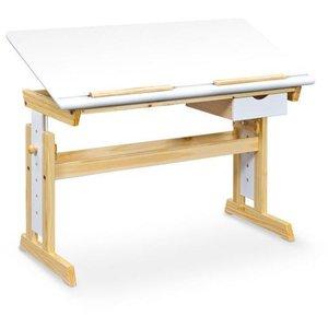 Mckenna skrivbord - Vit/furu