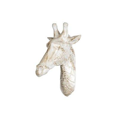 Väggdekoration Giraff - Vit/guld