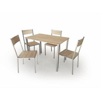 Celsius Matgrupp i Ljus ek - Bord inklusive 4 st stolar