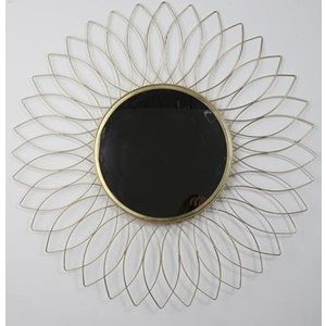 Flower spegel 90 cm - Antik mässing