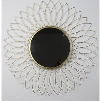 Flower spegel 90 cm - Antik mässing