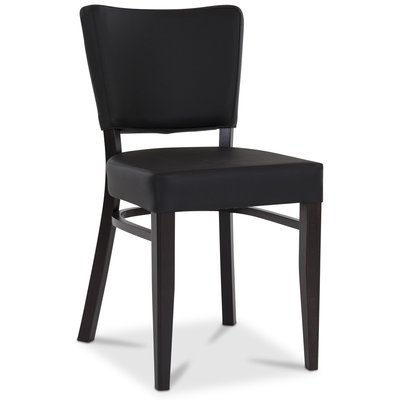 Madonna stol - Svart PU / Wenge