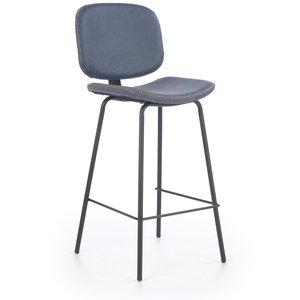 Audra barstol - Blå/svart